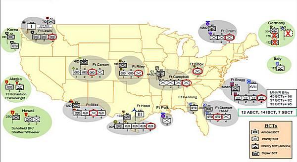 Struktura US Army 2013