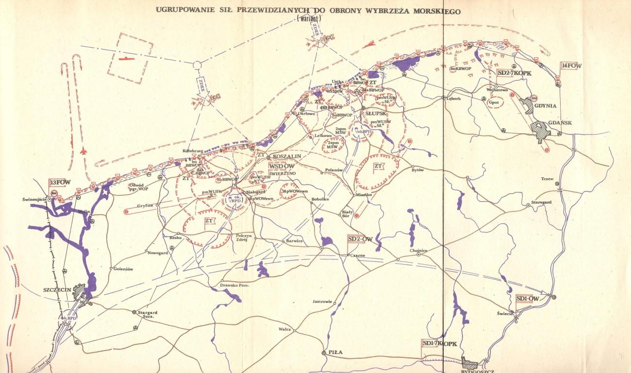 Ugrupowanie obronne - obrona wybrzeża PRL