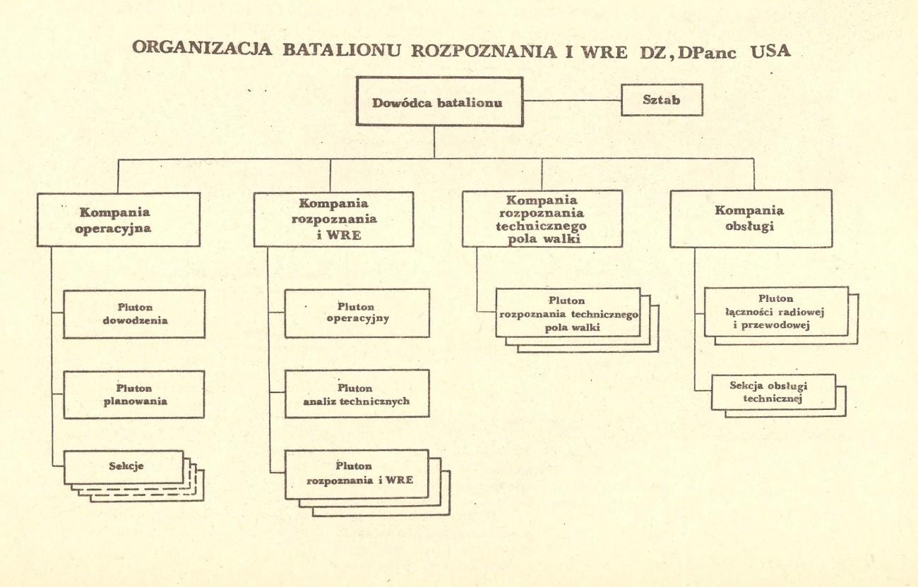 Batalion rozpoznania i WRE DZ-DPanc USA - wojna NATO-Układ Warszawski